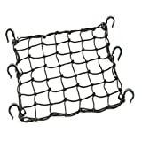"BININBOX Cargo Net With 6 Durable Hooks Nylon 16.53x16.53"" Large Stretches Adjustable Mesh Elastic Lightweight Bungee Cord 49 Grids"