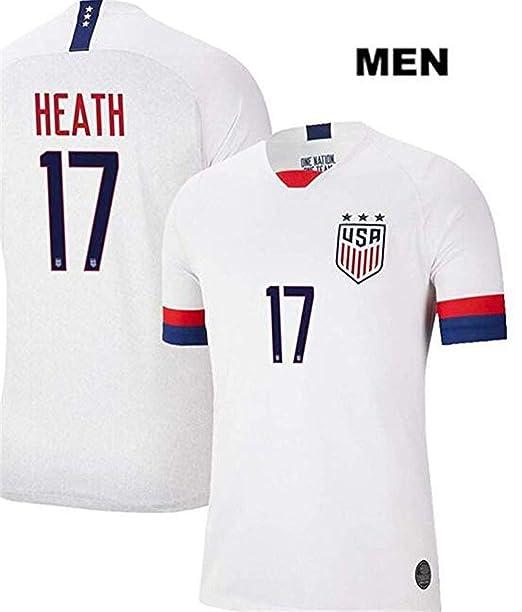 big sale ab347 893fd LISIMKE Soccer Team USA National Home Tobin Heath#17 Mens ...