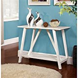 Furniture of America Sawyer Rectangular Top Console Table, White