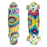 Meketec Skateboards Boys Mini Cruiser Skateboard 22 inch Kids Board for Girl Youth Children Toddler Teenagers Adult Dog for Beginner Boys 7 to 10
