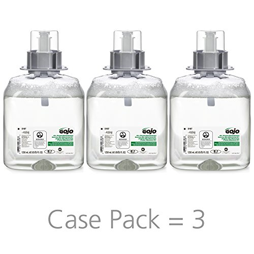 Refill Fmx 12 - GOJO FMX-12 E1 Foam Handwash, Fragrance Free, 1250 mL Handwash Refill for GOJO FMX-12 Push-Style Dispenser (Case of 3) - 5167-03