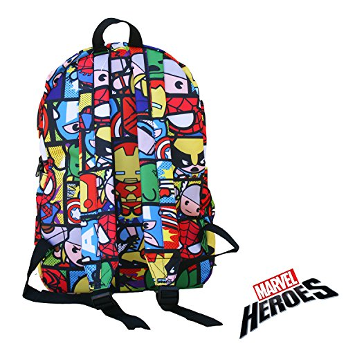 50af5ee716 Marvel Heroes Kawaii Avengers Backpack with Lanyard Keychain - Import It All