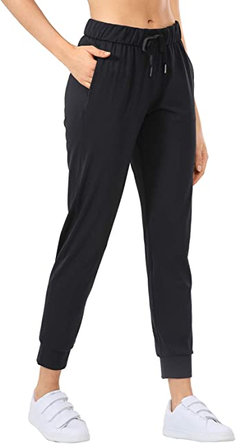 CRZ YOGA Womens Stretch Lounge Sweatpants Drawstring Travel Athletic Training Pants