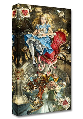 Disney Fine Art We're All Mad Here - Treasures on Canvas Alice in Wonderland Mad Hatter March Hare Reproduction Gallery Wrapped Canvas Wall Art Heather Theurer ()