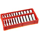 OEMTOOLS GreatNeck 18622 Metric Socket Set, 1/4-Inch Drive, 24-Piece, Chrome