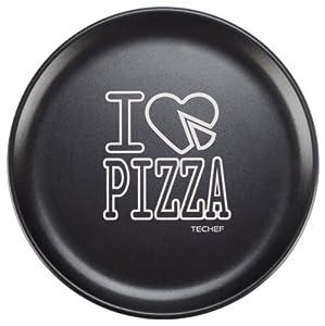 TeChef - 14-inch Pizza Pan with Teflon Select Non-Stick Coating (PFOA Free) / DuPont Print Designs Technology (Football - White)