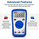 Etekcity Digital Multimeter, MSR-A600 Electrical Volt Amp Ohm Voltage Tester Auto-Ranging Multimeters voltmeter Ammeter with AC/DC Current Resistance Continuity Capacitance and REL Diode Test Meter