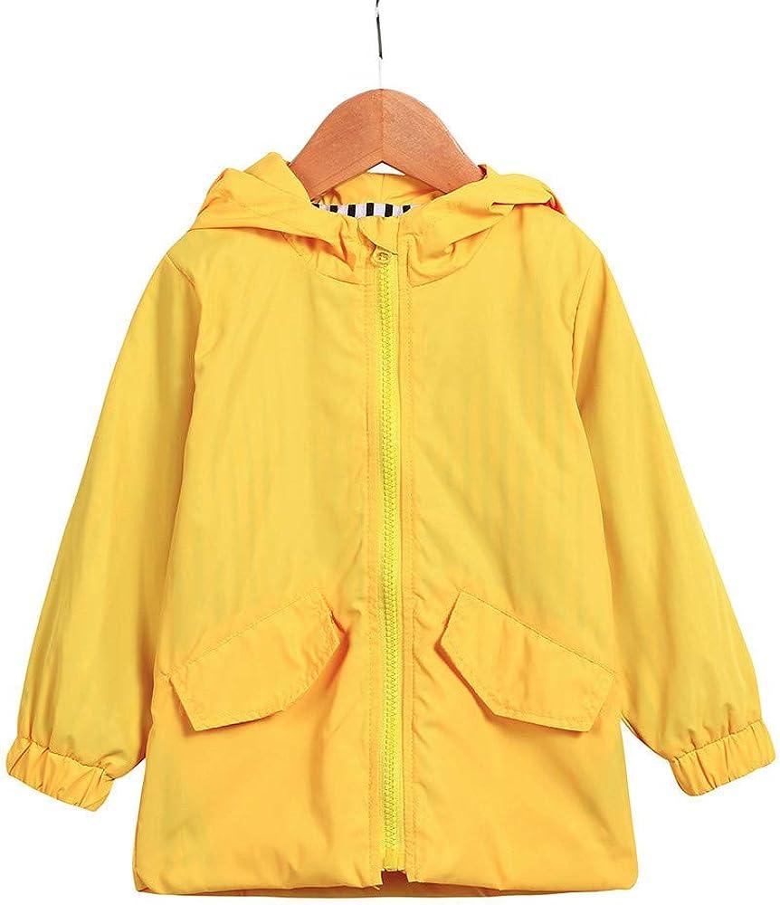 Jarsh Baby Boy Girl Raincoat Cartoon Dinosaur Hoodie Zipper Waterproof Clothes
