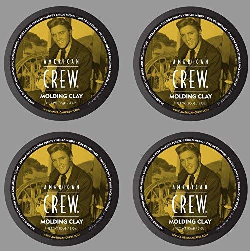 American Crew Molding Clay Hair Styling Wax 3oz (Pack of 4) kit