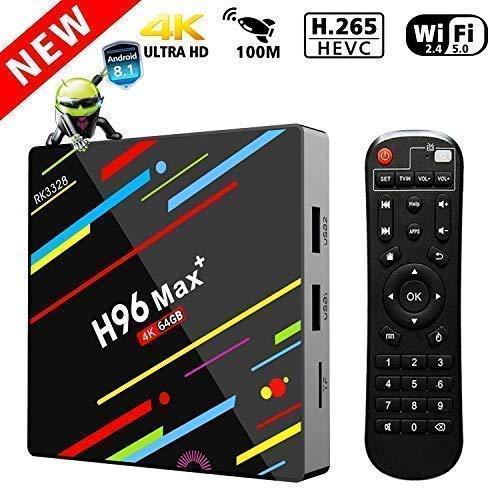 TV Box Android 8.1,4GB 64GB LinStar H96 max+ Smart Tv Box Bluetooth 4.0  RK3328 5c1b33fe5030