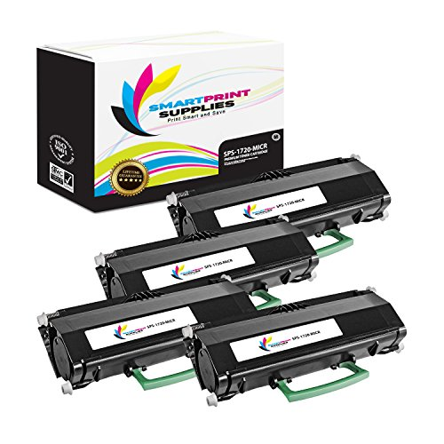 Smart Print Supplies Compatible 310-8702/310-8709 MICR Black Toner Cartridge Replacement for Dell 1720 1720DN Printers (6,000 Pages) - 4 Pack