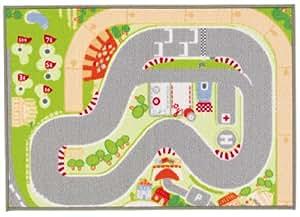 Sevi - Alfombra circuito de carreras, 140 x 100 cm (Trudi 60268)