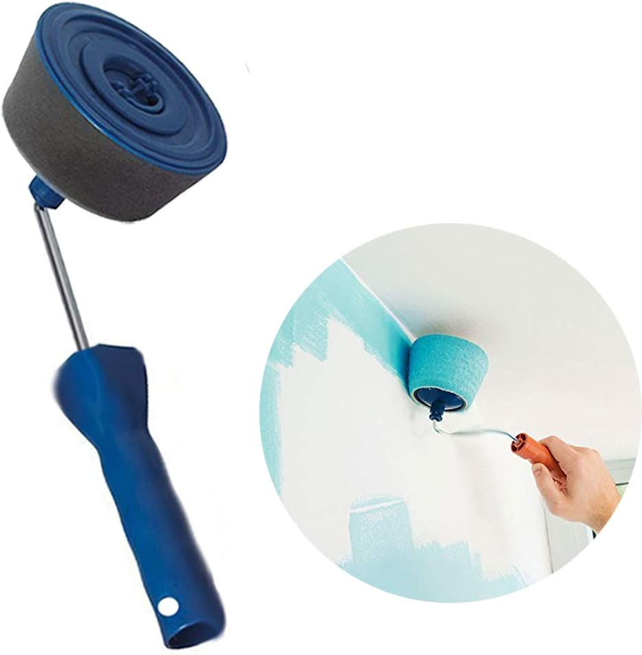 Rouleau /à Peinture Kit de Rouleau /à Peinture Multifonctionnel avec R/éservoir et Trousse de Rouleau /à Peinture /à Poign/ée Extensible pour la Maison