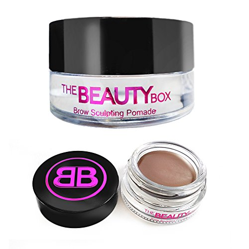 Eyebrow Brown Light (The Beauty Box Brow Sculpting Pomade, Smudge-Free, Waterproof Eyebrow Pomade, Fill and Texturize, 7 shades, 4g. (Soft Brown))