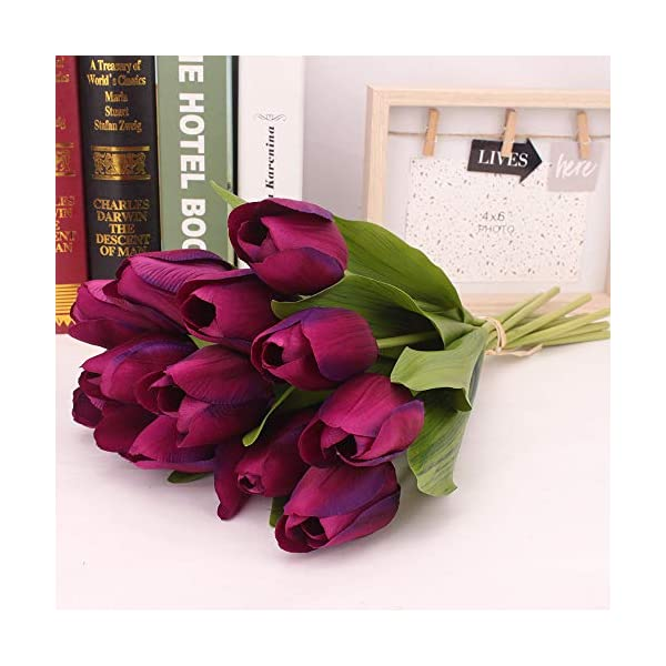 XGao-12pcs-Artificial-Tulip-Faux-Flowers-Fake-Holland-Plants-Real-Touch-Silk-PU-Flower-for-Vases-Wedding-Bride-Bridesmaid-Bouquets-Garden-Home-Office-Decor-Party-Centerpieces-Decoration-PP
