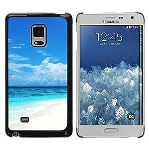 TopCaseStore / la caja del caucho duro de la cubierta de protección de la piel - Caribbean White Sand Paradise Beach - Samsung Galaxy Mega 5.8 9150 9152
