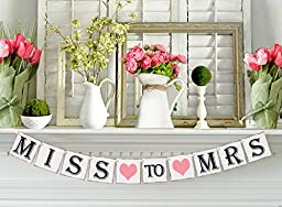 Miss to Mrs Banner for Bridal Shower and Bachelorette Party - Decorations and Photo Prop