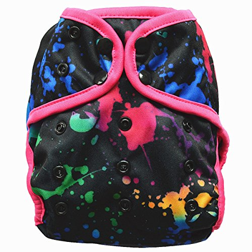 One Size Cloth Diaper Cover Snap With Double Gusset (Ink)