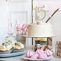 15 Quinceañera GOLD Birthday Cake Topper
