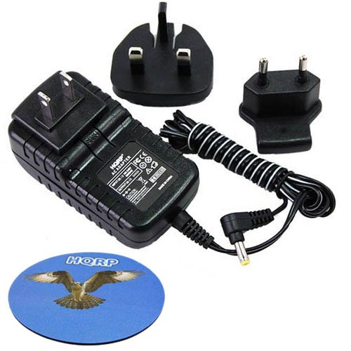 HQRP Wall AC Adapter/Power Supply compatible with Fuji FujiFilm Instax Printer Pivi MP-300 / MP300 with USA & Euro Plug + Coaster