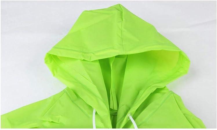 LbojailiAi Impermeable Transparente para Mujer EVA Outdoor Travel Rain Cape Poncho con Capucha Amarillo LNone