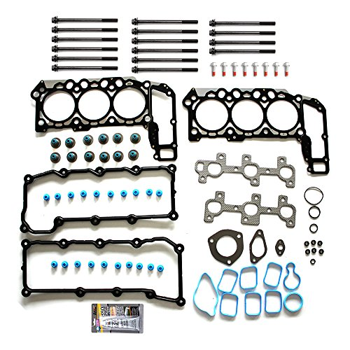 SCITOO Replacement for Cylinder Head Gasket Set Bolts fits Dodge Dakota Durang Dodge Ram 1500 Jeep Liberty Jeep Grand Cherokee 3.7L 2002-2005 Engine Head Gaskets Sets Kit