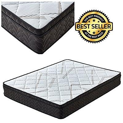 Premium Sleep Comfort 7 Inch Euro Top Mattress Soft Plush Pillow Top Mattress