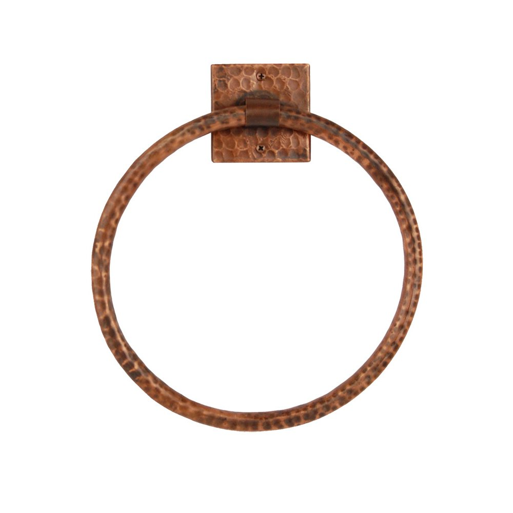 Premier Copper Products TR10DB 10-Inch Hand Hammered Copper Full Size Bath Towel Ring, Oil Rubbed Bronze by Premier Copper Products B0059143IK