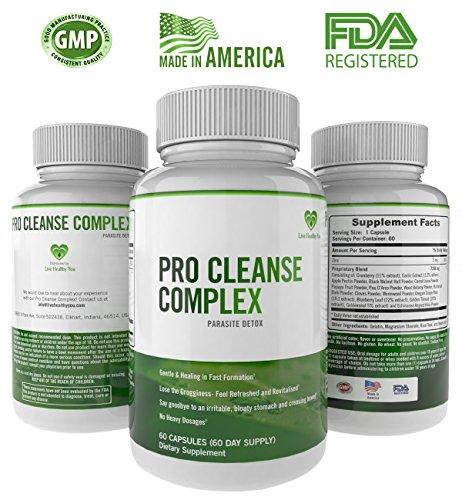 Pro Cleanse complexe tous les naturels corps Detox prend en charge une bonne Digestion et fonctions de Colon - meilleur nettoyant Parasite est douce et efficace qui prend en charge poids perte Digestive et santé du système immunitaire