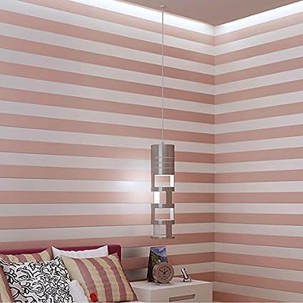 Papel tapiz KeTian para la pared 0.53 m x 10 m=5.3 m2 dise/ño de rayas estilo europeo simplificado moderno,adecuado para la Sala de estar o el dormitorio