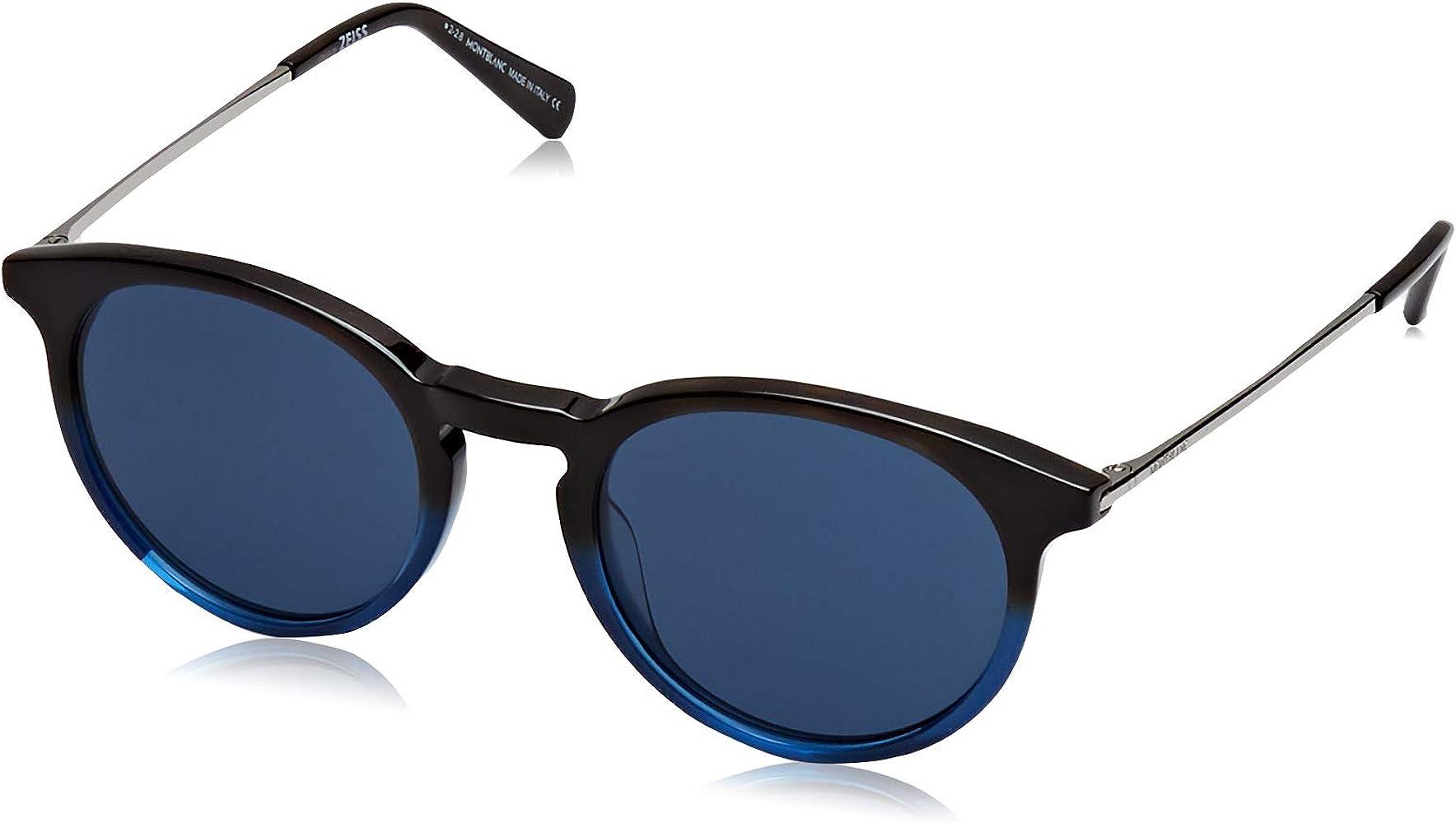 7d408bd328 Montblanc Mont Blanc Sunglasses Mb549S 56V-49-20-145 Gafas de Sol, Negro  (Schwarz), 49 para Hombre