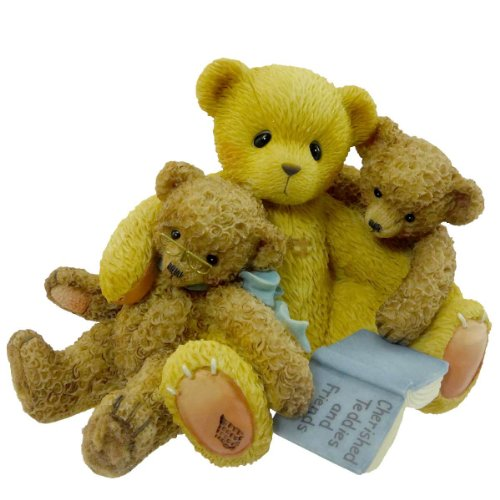 - Cherished Teddies Caleb And Friends Teddy Bear Friend Book - Resin 3.00 IN
