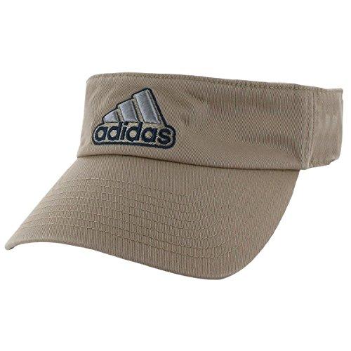 (adidas Men's Ultimate Visor, Washed Khaki/Collegiate Navy, One Size)
