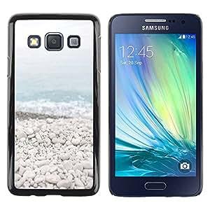 Paccase / SLIM PC / Aliminium Casa Carcasa Funda Case Cover para - Beach Stones Waves Blue Sea Horizon - Samsung Galaxy A3 SM-A300