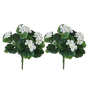 Lopkey Indoor Artificial Begonia Bouquet Flower Patio Lawn Garden Wedding Photo Decor 117