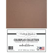 """NUBUCK BROWN Cardstock from Cardstock Warehouse 8.5"""" x 11"""" - PREMIUM 100 LB. COVER - 25 Sheets"""