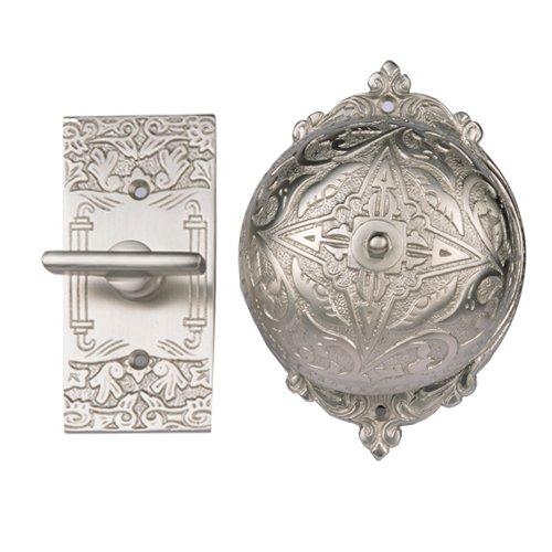 Satin Nickel Manual - Adonai Hardware Belshazzar Brass Manual Old Fashion Door Bell or Twist Door Bell or Hand-Turn Door Bell - Satin Nickel