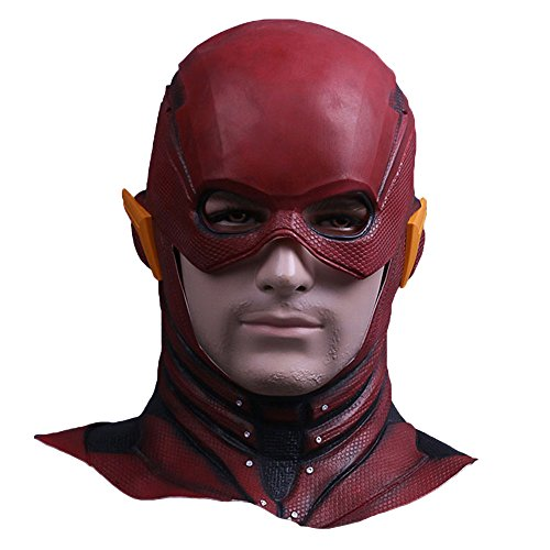 Trippy Lights The New Flash Movie TV Series Superhero Overhead Latex Mask -