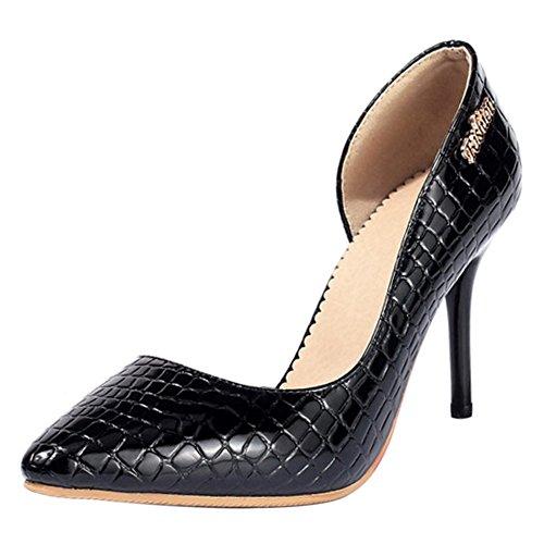 TAOFFEN Women Fashion D'Orsay Court Shoes Black-17 6zKDjfO