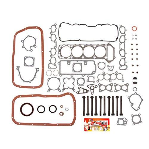 89-97 Nissan 240SX Pickup D21 KA24E SOHC Full Gasket Set Head Bolts (Nissan Cylinder Head Bolt)