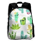 Kids School Bag Double Shoulder Print Backpacks Cacti Cool Travel Gear Daypack Gift
