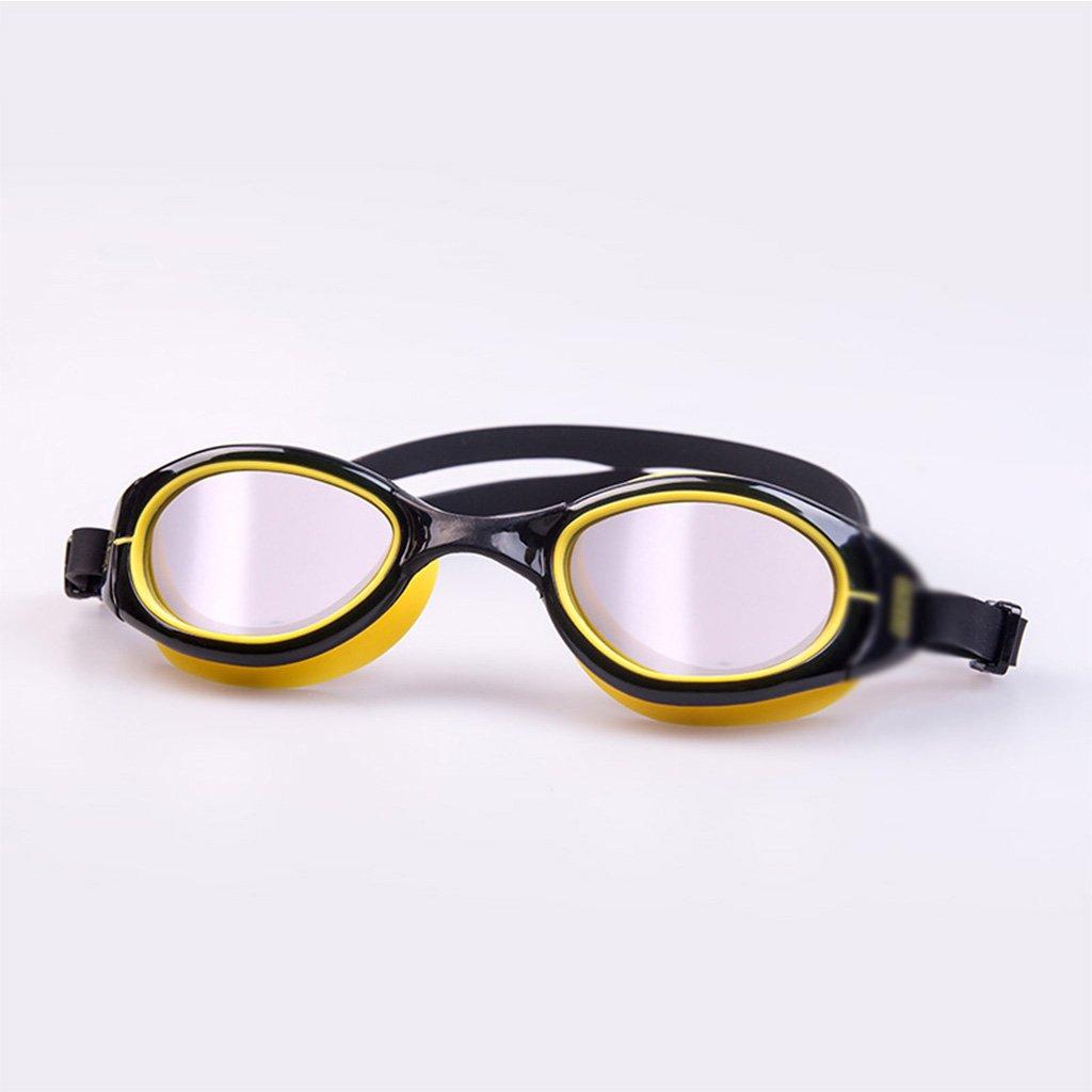 Wasserdichte Schwimmbrille, Anti-Fog Galvanik High-Definition, Schwimmen Objektiv, verstellbare Komfort Silikon-Stirnbänder geeignet für Freizeit Fitness Erwachsene, Unisex ZHOU LI B07CJJQQG9 Schwimmbrillen Aktuelle Form