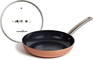 Copper Chef 10-Inch Frying Pan and lid Black Diamond with Non-Stick Coating, Induction Compatible Bottom, Large. Black Diamond Pan by Charles Oakley