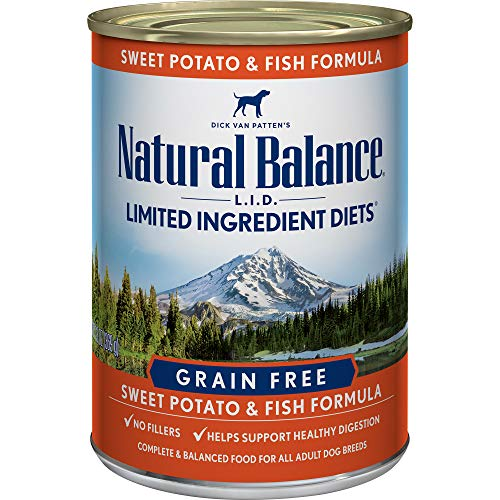 - Natural Balance L.I.D. Limited Ingredient Diets Canned Wet Dog Food, Grain Free, Fish And Sweet Potato Formula, 13-Ounce (Pack Of 12)