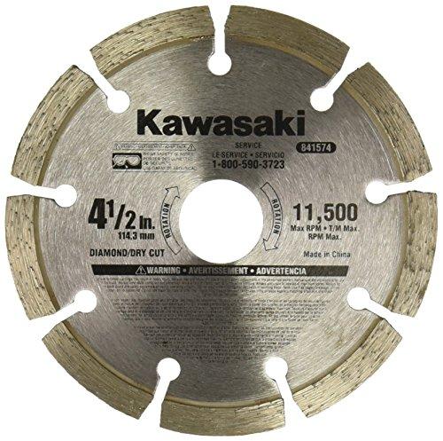 Kawasaki 841574 Diamond Blade, 4-1/2-Inch, Segmented Rim