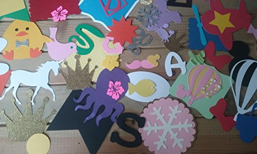 100 Paper Die Cut Shapes - Craft Supplies - Party Supplies - scrapbooking - embellishments from Party Ridge
