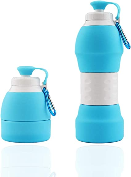 Sports bapa JoyFlip BPA Free Silicone Water Bottle Leak Proof Perfect for Kids FDA Approved Carabiner and Outdoors Travel