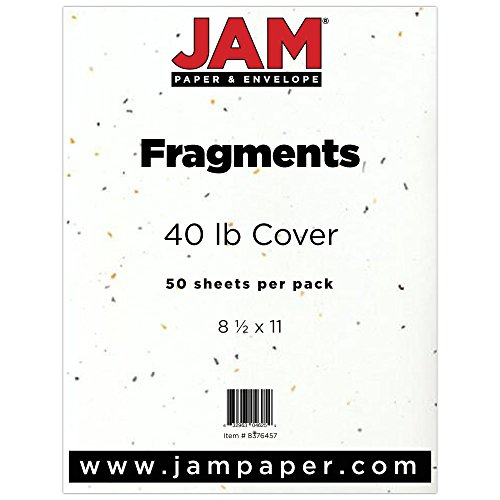 JAM Paper Translucent Vellum Cardstock - 8.5'' x 11'' - 43lb Fragments Style - 250 Sheets/Pack by JAM Paper