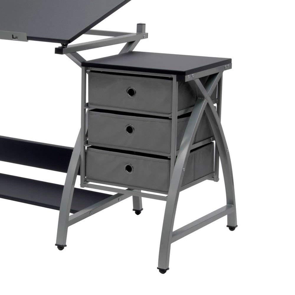 Studio Designs Laminate Craft Table Comet Center with Stool, Black (2 Pack) by STUDIO DESIGNS INSPIRING CREATIVITY WWW.STUDIODESIGNS.COM (Image #6)