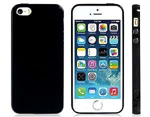new Open-face Plastic Case for iPhone 5/5S (Black) --- Color:Black